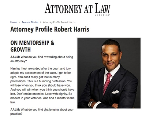 Attorney at Law Magazine Clipping